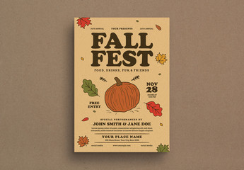 Fall Festival Event Graphic Flyer Layout