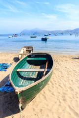 Boat on the beach in Porth Nefyn,