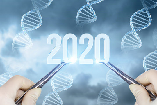 The concept new 2020 year in medicine