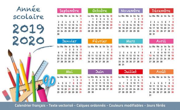 2019-2020-Calendrier année scolaire-1