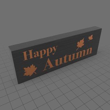 Happy autumn sign