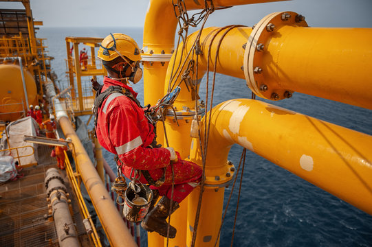 Offshore worker in the oil and gas industry in Angola