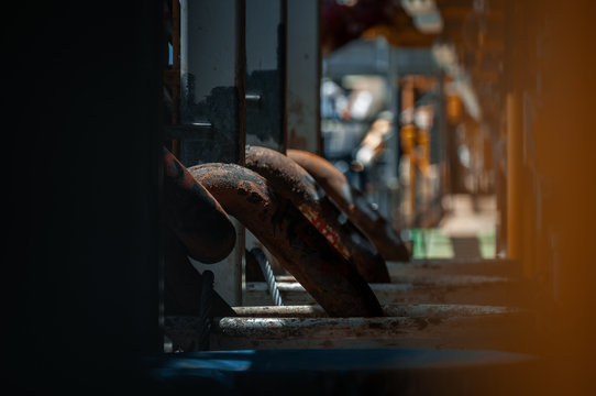 View of anchor chain