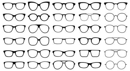 Glasses collection. Sunglasses set. Vector Fototapete