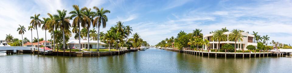 Fort Lauderdale Florida Las Olas downtown panorama panoramic view city marina boats