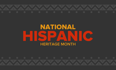 National Hispanic Heritage Month in September and October. Hispanic and Latino Americans culture. Celebrate annual in United States. Poster, card, banner and background. Vector illustration Wall mural