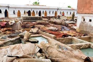 Leather processing-Marrakech, Jemaâ el Fna Square