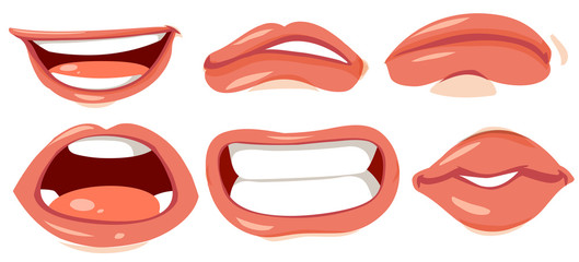 Different designs of human lips