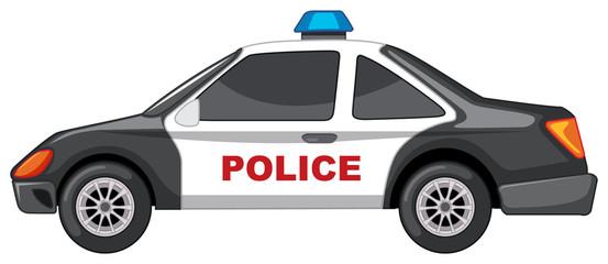Police car in black and white