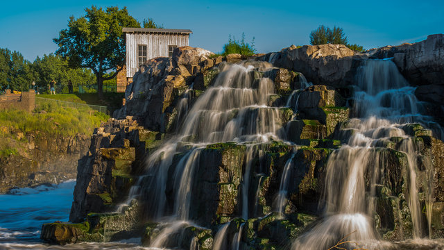 Sioux Falls waterfalls in downtown