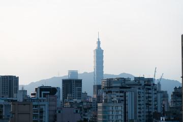 台北101の見える台湾の風景