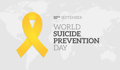 World Suicide Prevention Day Background Illustration Banner