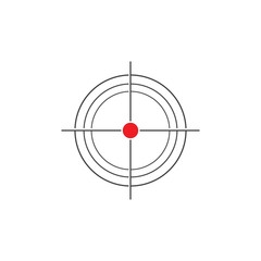 Target Vector icon illustration design template
