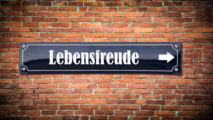 Fototapete - Schild 404 - Lebensfreude