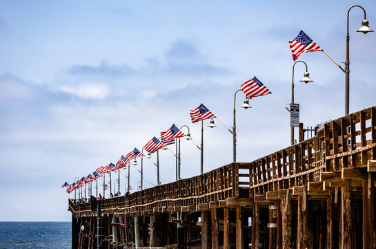 Flying American Flag in California