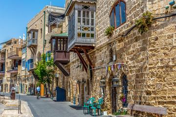 Fotobehang Oude gebouw Old Jaffa
