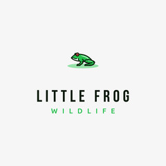 Cute Green Frog Toad Nature Animal Vector logo design inspiration