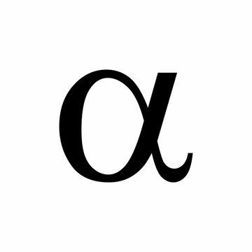 Black Alpha symbol