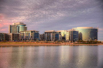 Hayden Ferry Lakeside in Tempe, Arizona. Hayden Ferry Lakeside is a progressive live, work, play, and shop destination along the south shore of Tempe Town Lake in Tempe, Arizona. Fotomurales