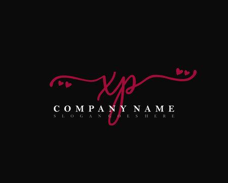 XP Initial handwriting, Feminine logo design template vector