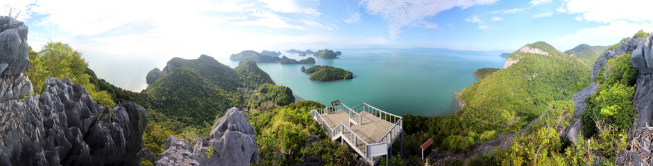 Panorama view of ang thong Island ,Archipelago in Thailand,