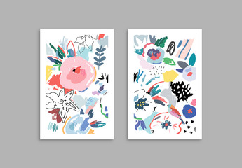 Cards With Floral Elements