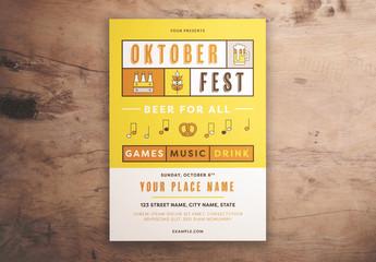 Oktoberfest Event Graphic Flyer Layout