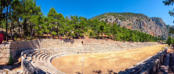Fotomurales - The sports arena in Delphi, Greece