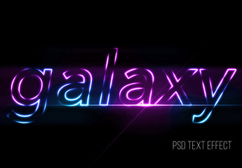 Purple and Blue Glowing Text Effect