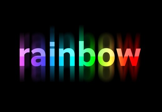 Rainbow Text Effect with Blur Element