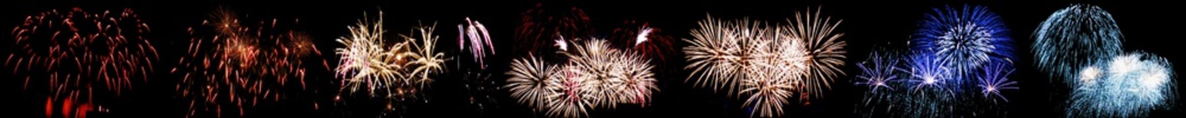 Berlin panoramic fireworks, Germany