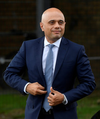 Britain's Chancellor of the Exchequer Javid visits SGS College Filton in Bristol