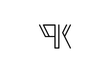 Creative Innovative Initial Letter logo PK KP QK KQ. Minimal luxury Monogram. Professional initial design. Premium Business typeface. Alphabet symbol and sign.