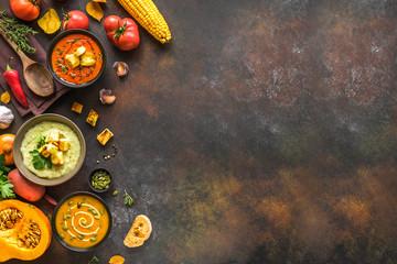 Autumn soups set Fototapete