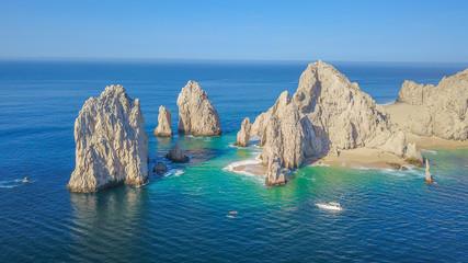Papiers peints Bleu jean Vista aérea del arco de Cabo San Lucas