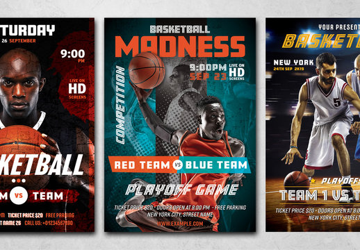 Basketball Game Event Flyer Layout
