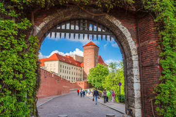 Beautiful Wawel castle in Krakow Poland.