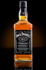 CHATHAM, NJ, UNITED STATES - JUNE 28, 2014:  Jack Daniel's whisky bottle. Jack Daniel's is a brand of sour mash Tennessee whiskey that is the highest selling American whiskey in the world