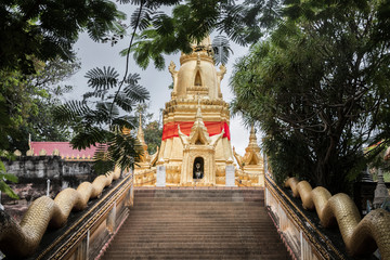 Stairs to Wat Sila Ngu temple, Jaidee (Chedi Sila Ngu) on Koh Samui, Surat Thani, Thailand.