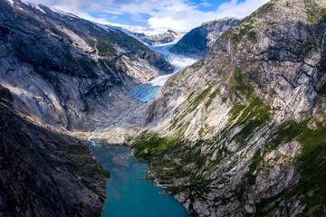 Famous nigardsbreen glacier in Jostedalen, Norway