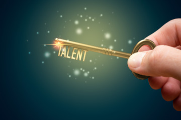 Key to unlock and open your talent