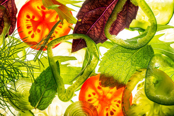 Wall Mural - sliced vegetable close up