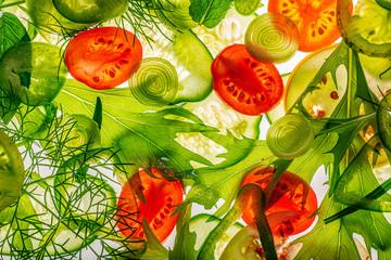 sliced vegetable close up