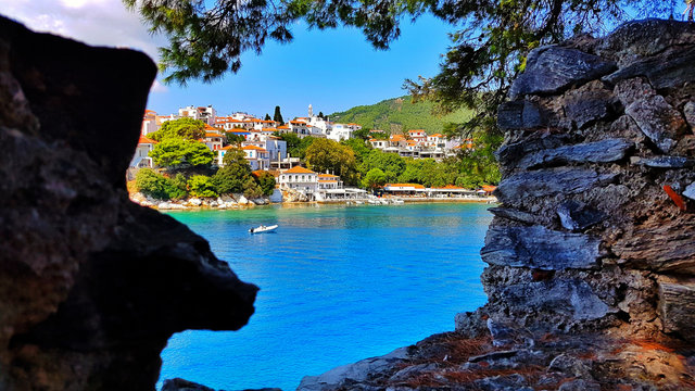 skiathos island in summer season greece