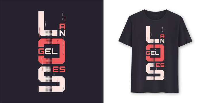 Los Angeles graphic modern t-shirt vector design, typography