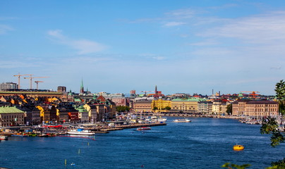 View of port of Stockholm