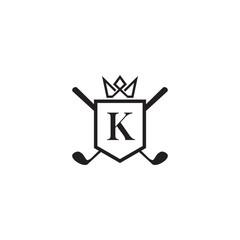 Luxury golf logo design vector template
