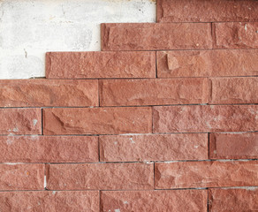 Old brick wall texture background, copy space.