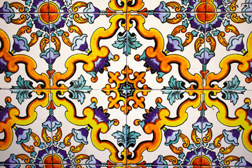 Italy, Sorrento, typical ceramic tile on the Amalfi coast