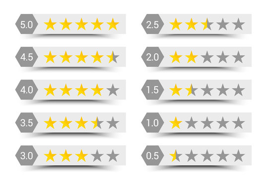 Five stars rating composition